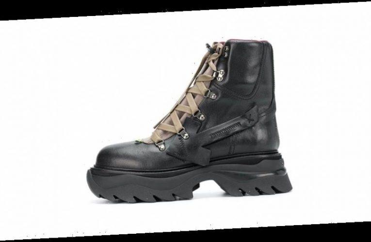 Off-White™ Drops $1,310 USD Black Equipment Combat Boots
