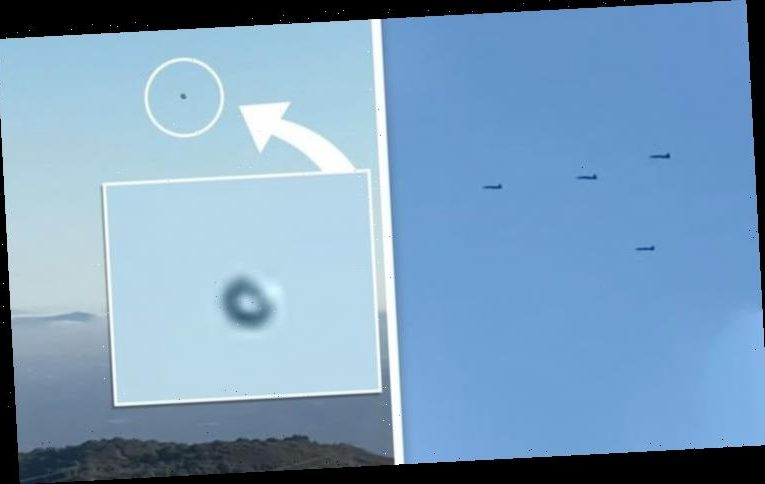 UFO sighting: US fighter jets scrambled as 'real UFO disk' appears over California – claim