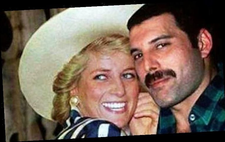Freddie Mercury and Princess Diana; The photo that 'proves' their night together