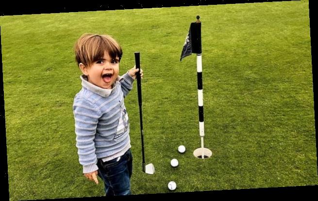 Talented toddler, 4, who idolises Rory McIlroy scores a hole in one