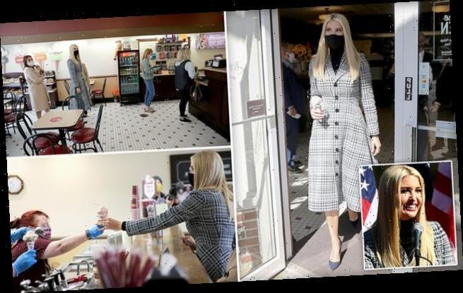 Ivanka Trump orders cookies 'n cream ice cream at Ohio campaign stop