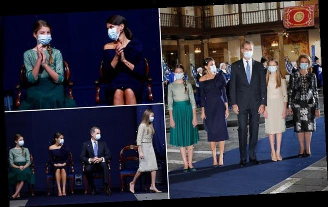 Queen Letizia of Spain joined by Princesses Leonor and Sofia