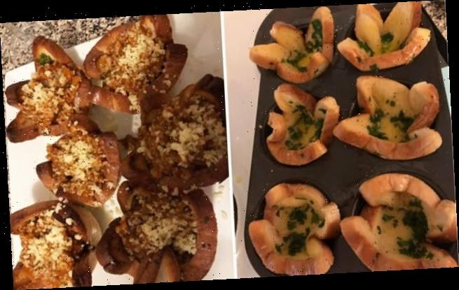 Mum's trick for serving leftover bolognese with garlic toast CUPS