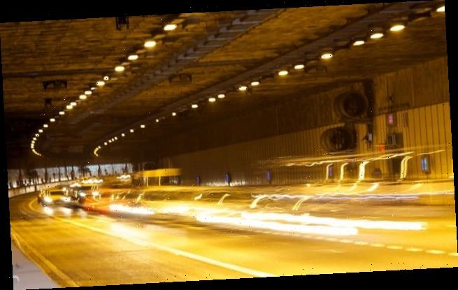 Driver caught speeding through tunnel said he was ate for cinema