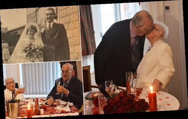 Couple aged 90 unable to cuddle since March celebrate anniversary