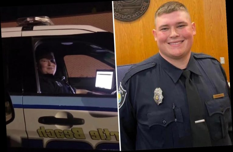Hero Myrtle Beach cop Jacob Hancher shot dead while responding to a domestic violence call