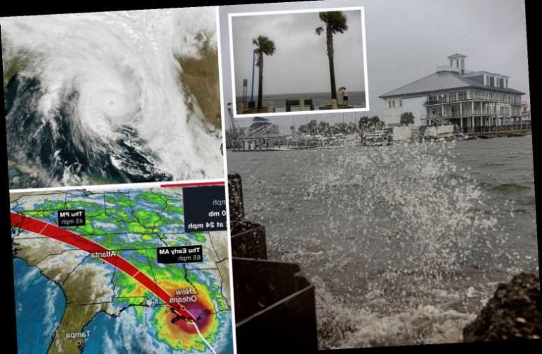 Hurricane Zeta smashes Louisiana as 110mph gales pummel Gulf Coast in record fifth named storm to hit state this season