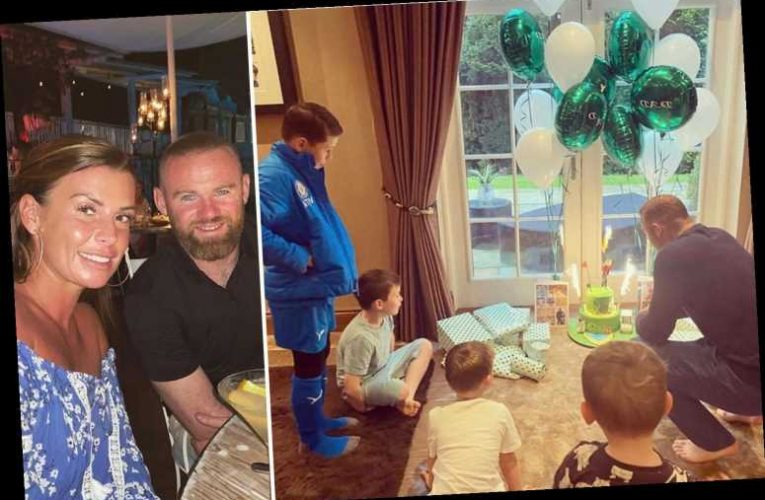 Coleen Rooney throws Wayne an isolation birthday party as he blows out his candles in lockdown