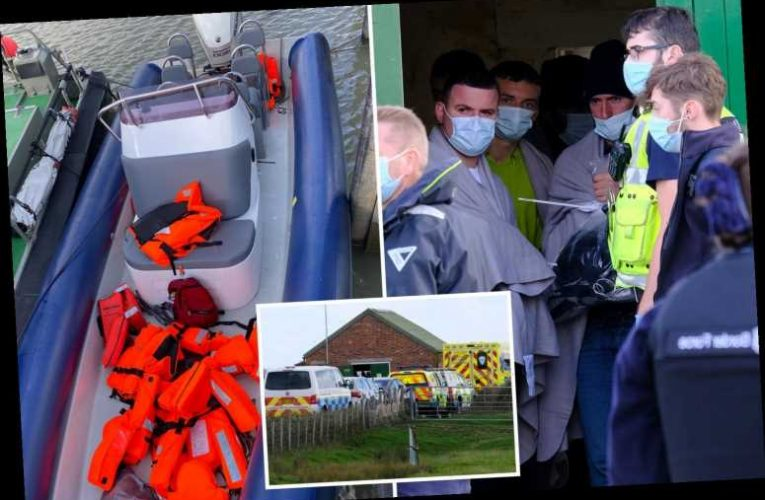 Migrants halt live-fire Army exercise after landing on Kent beach being used as a firing range