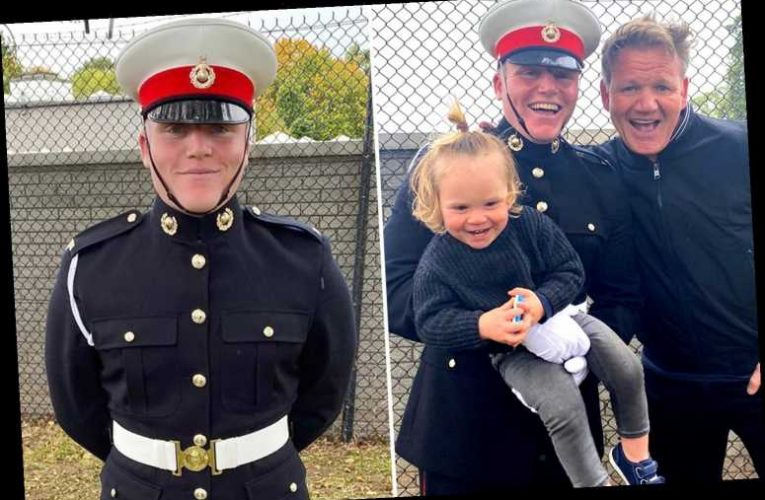Gordon Ramsay beams with pride as son Jack joins the Marines as David Beckham tells lad 'We love you'