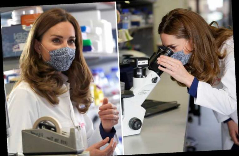 Mum Kate Middleton visits science lab to raise awareness of miscarriage and stillbirth