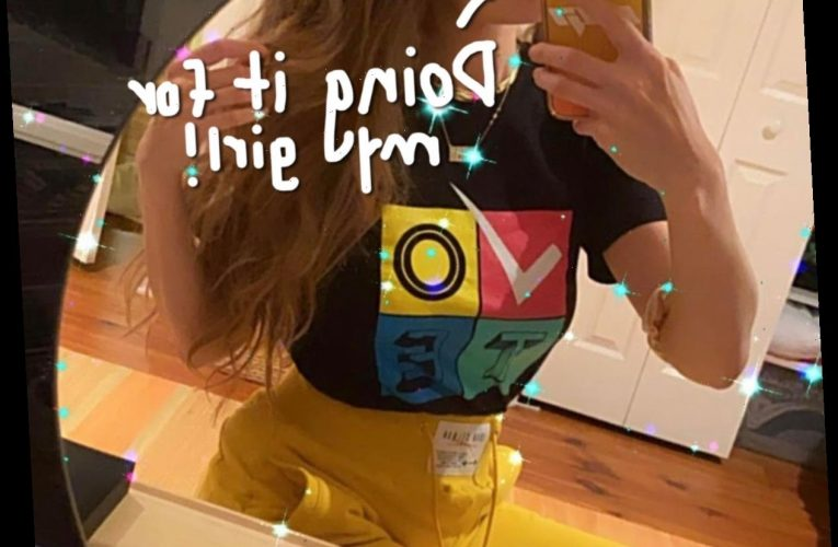 Gigi Hadid Displays Her Post-Baby Body For The First Time In New Voting Selfie!