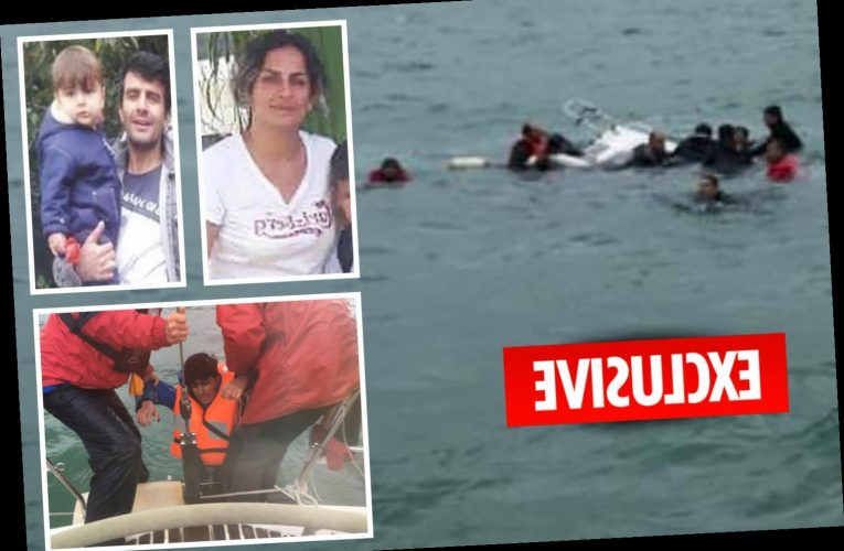 Heartbreaking video shows migrants rescued from same boat as tragic family that died at sea