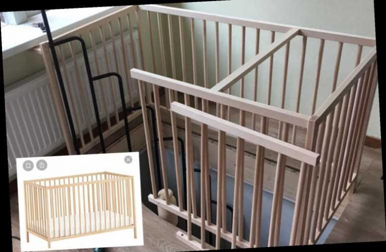 DIY fanatics save a fortune on their staircase thanks to using an old COT frame as the railing