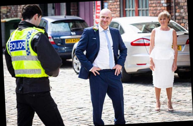 Coronation Street spoilers: Tim and Sally's wedding crashed by the police as Geoff schemes to ruin it