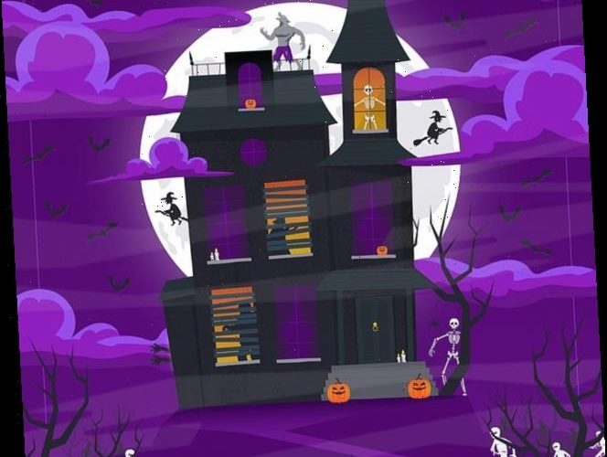 Haunted house brainteaser asks if YOU can spot the ghost hidden among the other Halloween characters