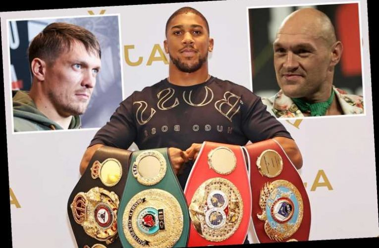 Anthony Joshua could give up WBO belt as he eyes Tyson Fury showdown with mandatory Oleksandr Usyk impatient for shot