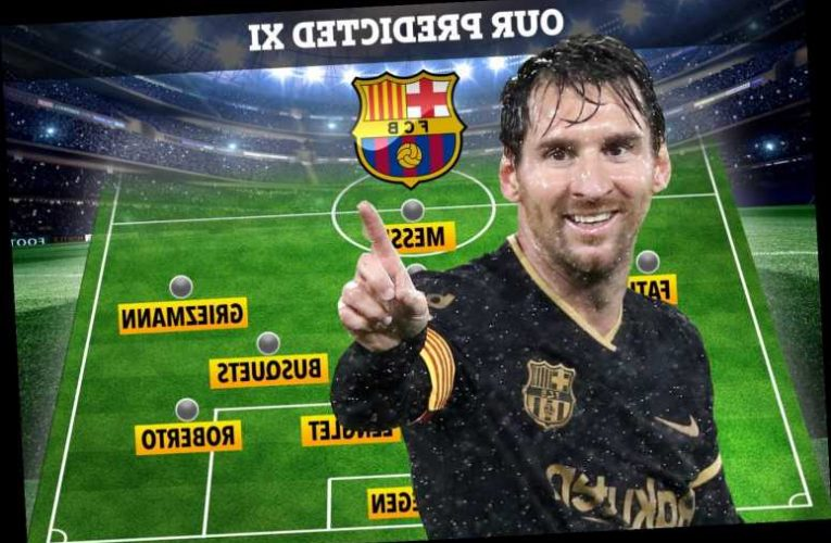 How Barcelona line-up with new-look XI after Luis Suarez sale as Braithwaite is given iconic striker's old No9 shirt