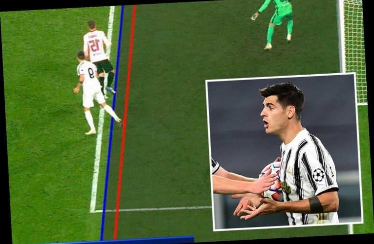 Alvaro Morata has hat-trick of goals DISALLOWED for offside as Juventus lose to Barcelona in Champions League