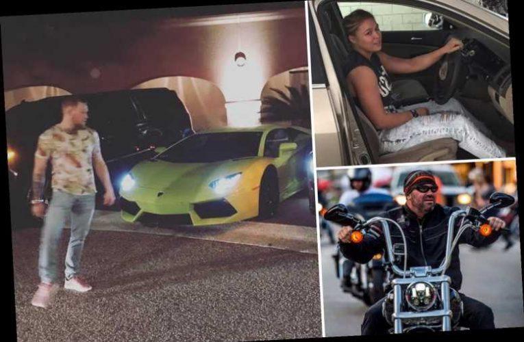 UFC stars amazing cars from McGregor's £3million fleet to Adesanya's £500,000 McLaren, and Rousey's £21,000 Honda Accord