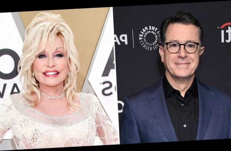 Stephen Colbert Moved to Tears After Dolly Parton Sings on 'Late Show'