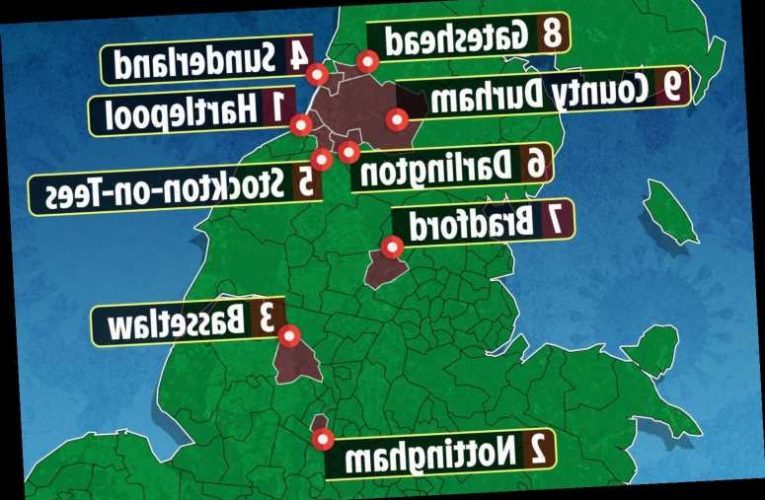 Is my area going into Tier 3 lockdown? From Nottingham to Hartlepool, Covid map shows 9 places at risk