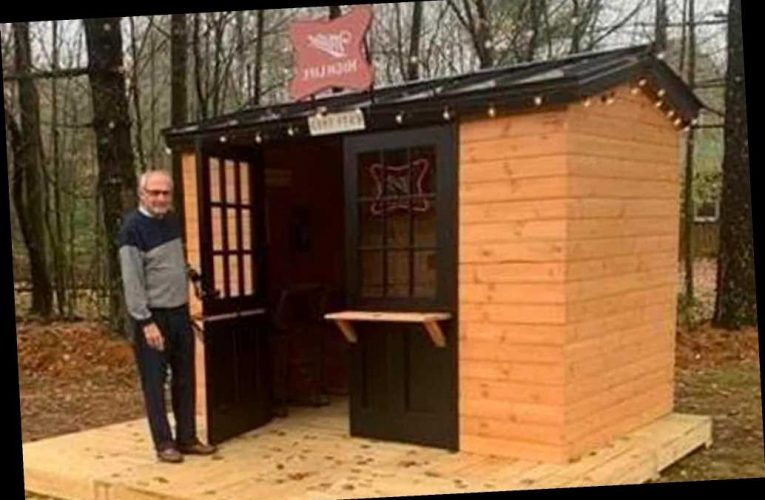 This guy won his own backyard dive bar from Miller High Life