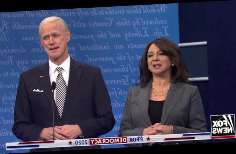 'SNL' Cold Open: Maya Rudoph's Kamala Harris Mothers Jim Carrey's Joe Biden at Presidential Debate