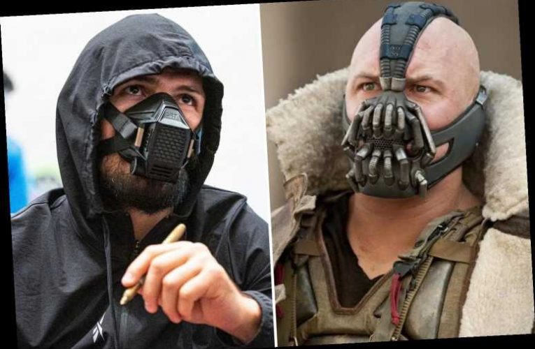 Khabib and Justin Gaethje arrive on Fight Island for UFC 254 wearing 'Bane' masks as last-minute fan appeal is rejected
