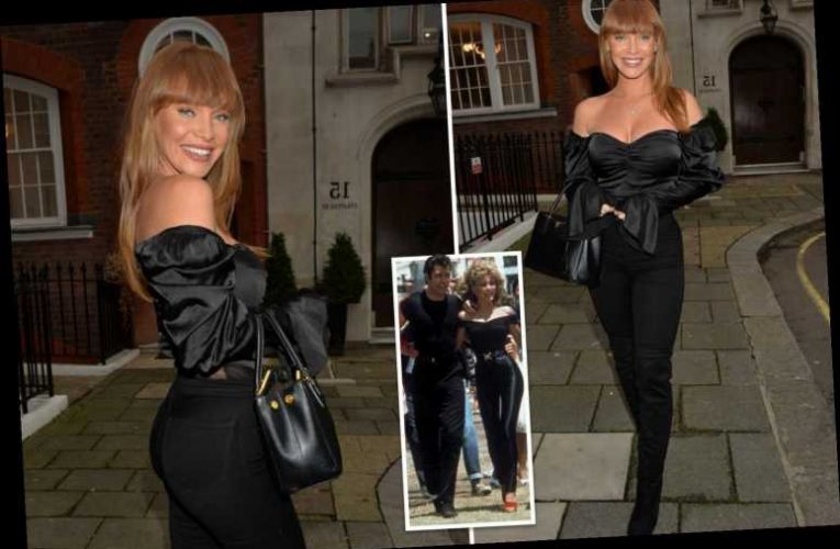 Summer Monteys-Fullam channels Olivia Newton-John during night out in London