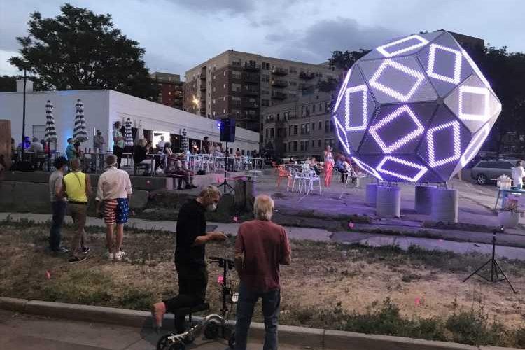 "Clark Richert's ""Quadrivium"" lights up downtown Denver"
