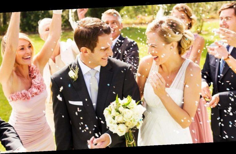 Couple's 'sexy' wedding snaps slammed after groom grabs bride's bum