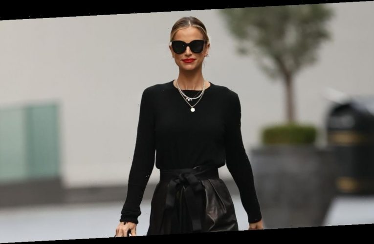 Vogue Williams stuns in stylish black outfit as she returns to work after giving birth to daughter Gigi