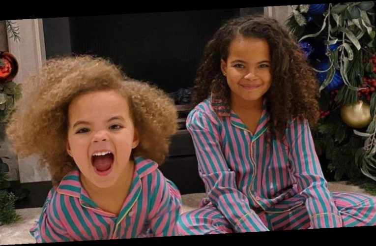 Rochelle Humes shares adorable pictures of daughters Alaia and Valentina getting ready for Christmas – get their cute pyjamas here