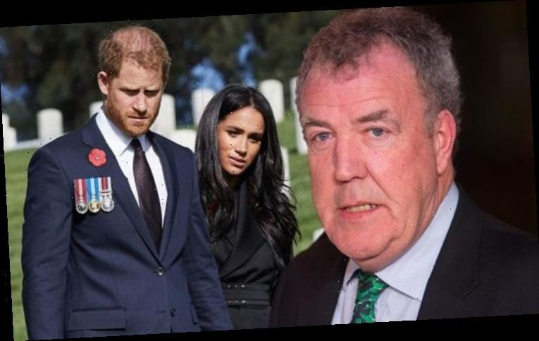 Jeremy Clarkson hits out at Prince Harry and Meghan over Cenotaph wreath snub: 'Get lost'