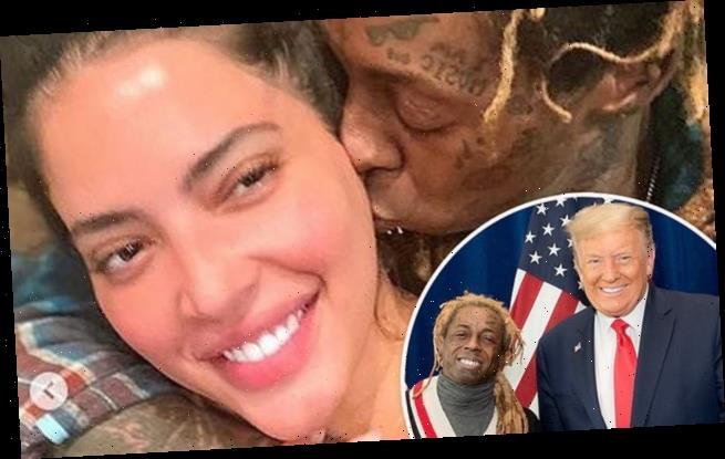 Lil Wayne's model girlfriend dumps the rapper after Trump endorsement