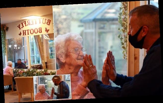 Emotional care home reunion as 92-year-old meets her son
