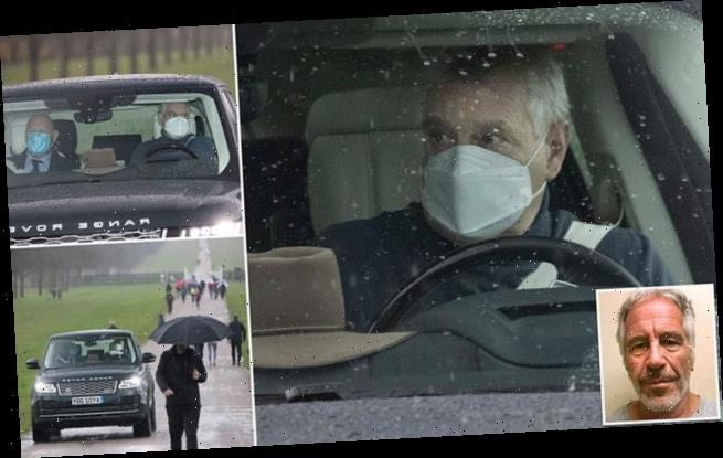 Prince Andrew spotted leaving Windsor Castle