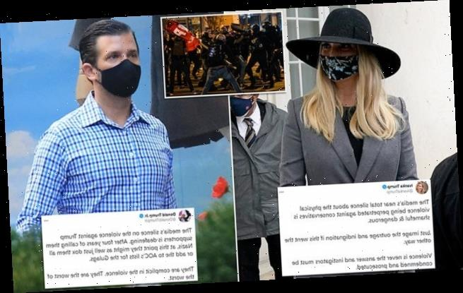 Ivanka, Don Jr. call for an end to violence against Trump supporters