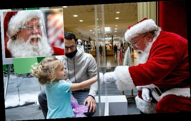 Here comes Santa Claus – with face masks and plexiglass