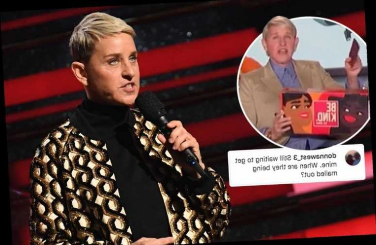 Ellen DeGeneres slammed for her $270 Be Kind gift boxes as customers complain they never 'received' theirs