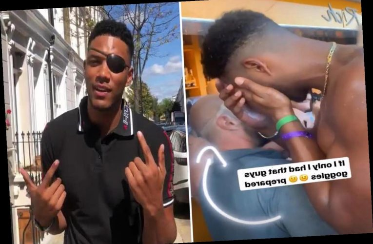 Love Island's Theo Campbell sues Ibiza club after flying champagne cork 'split eye in half' and blinded him