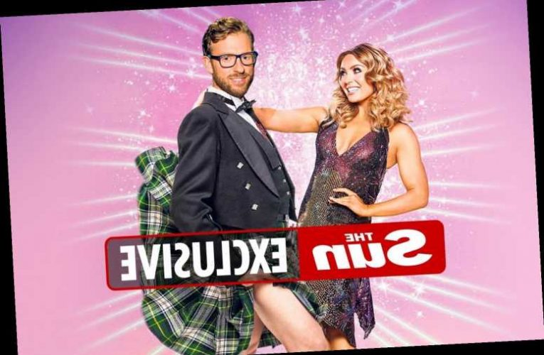 Strictly create adult babygrow for JJ Chalmers to stop him flashing viewers in his kilt