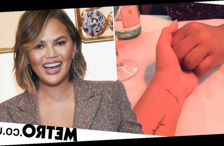 Chrissy Teigen reveals tattoo of son Jack's name after baby boy's death