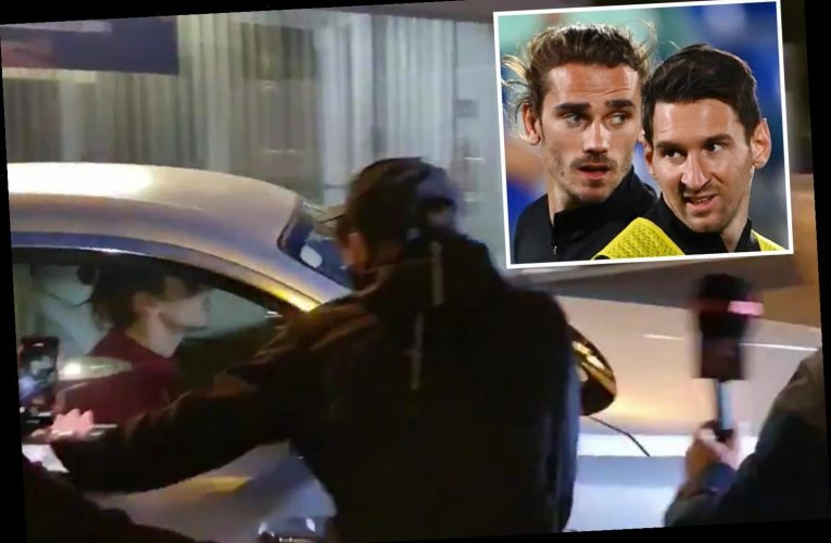 Furious Barcelona fans surround Antoine Griezmann's car and demand he show respect to Lionel Messi after bust-up