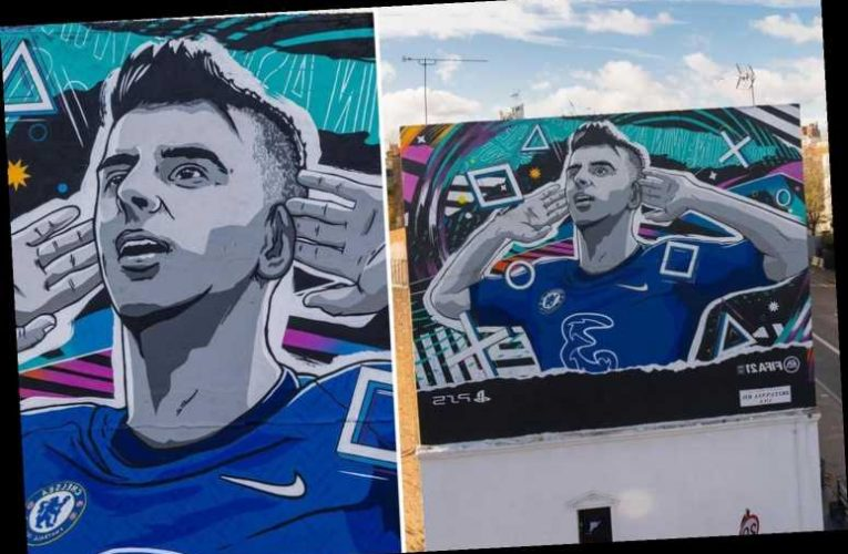 Chelsea star Mason Mount 'speechless' after being honoured with FIFA 21 mural next to Stamford Bridge