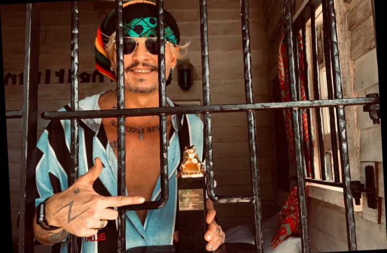 Johnny Depp Poses from Behind Bars with Film Festival Award Weeks After Losing Libel Suit