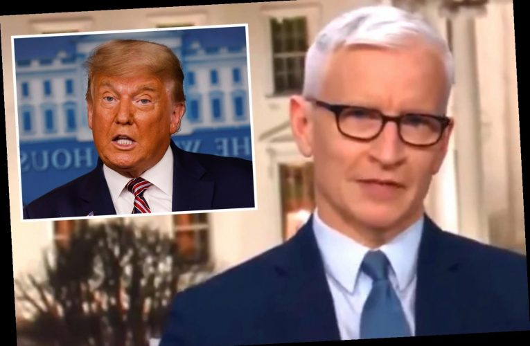 Anderson Cooper slams Trump as an 'obese turtle on his back flailing in the hot sun' during 2020 presidential election