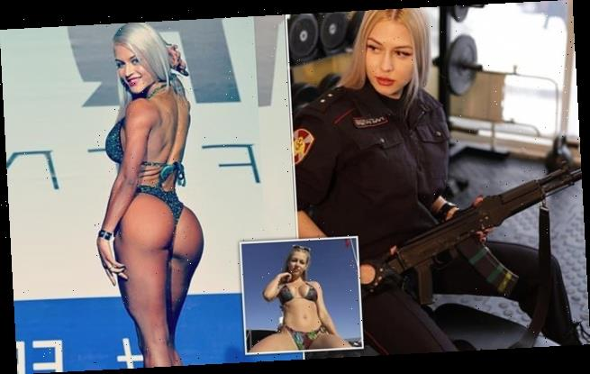 Female Russian beauty pageant soldier is fired