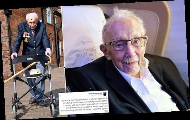 Captain Tom, 100, jets off to Barbados with a free flight from BA